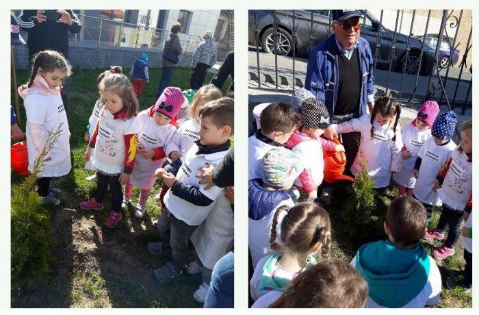"""Preșcolarii de la Grădinița """"Arlechino"""" au propria lor """"oază de verdeață""""!"""