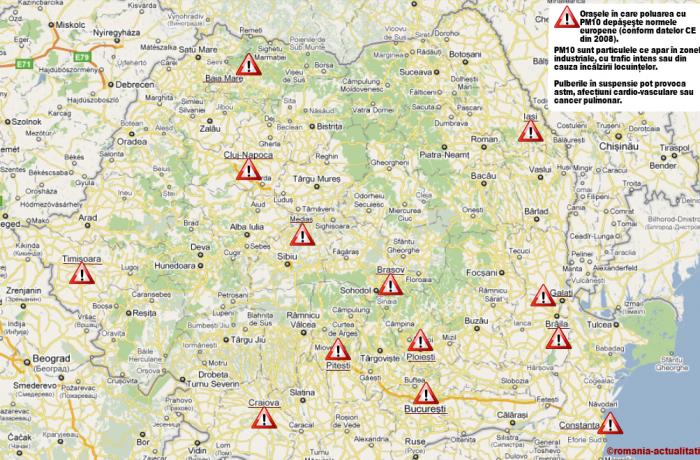 Problema calității slabe a aerului continuă să persiste în România