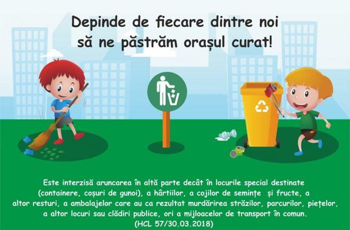 Campanie pentru un Dej mai curat!