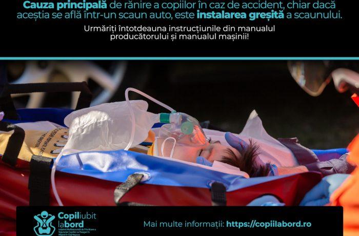 """Proiectul  """"Copil Iubit la Bord"""", implementat de Poliția Județeană Cluj"""