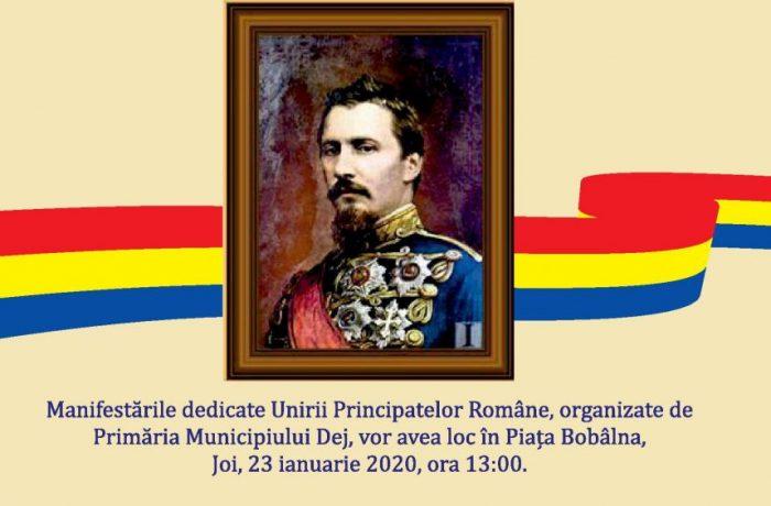 Unirea Principatelor Române sărbătorită joi, la Dej