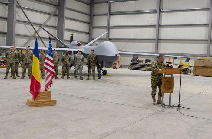 Drona MQ-9 Reaper, prezentată la baza militară de la Câmpia Turzii