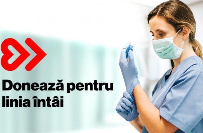 """Zece mii de medici și asistente au beneficiat de ajutorul primit de la """"Donează pentru linia întâi"""""""