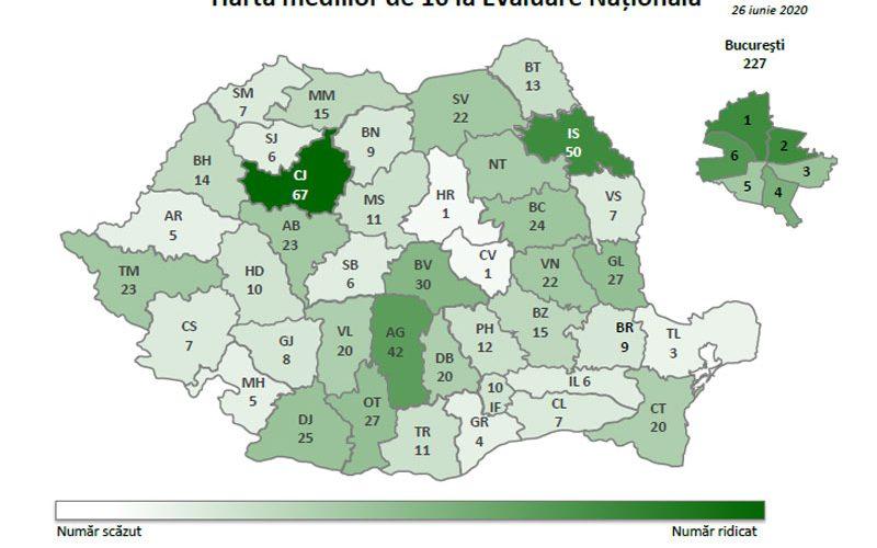 Evaluarea Națională, rezultate finale: 67 medii de 10, la Cluj